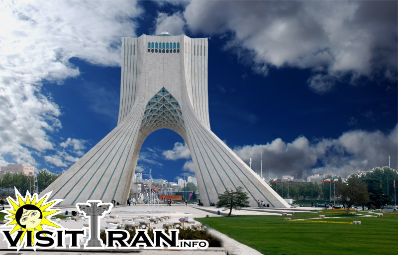 Azadi Tower Is Formed By Eight Thousand White Marble Blocks Brought From  Esfahan (which Is Famous For Its Quarries) And Was Designed By Iranian  Architect ...